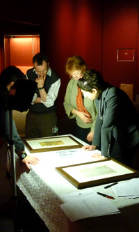 Inspecting the drawings