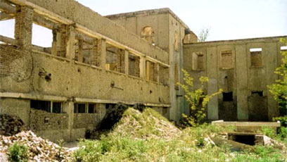 The destroyed state of the National Museum of Afghanistan, Kabul 2001