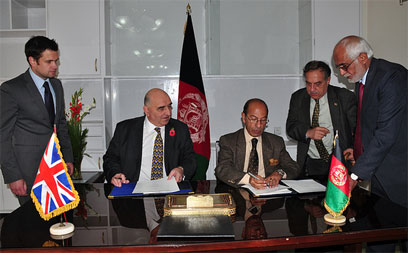 Signing of the official loan agreement in Kabul