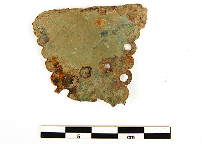 A piece of one of the cauldrons