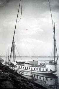 The luxury boat, Hathor, hired by the Colmans to journey up the Nile to Luxor. © The Ludham Archive
