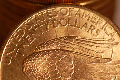 Each coin is a $20, known as a 'Double-Eagle'. © Portable Antiquities Scheme