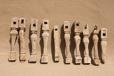 Angareeb bed legs found in the storeroom of the expedition house at Amara West