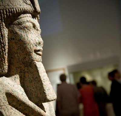 A statue of Ramesses II on display in Newcastle-upon-Tyne. Photo: Great North Museum: Hancock