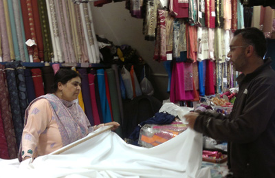 Altaf buying fabric