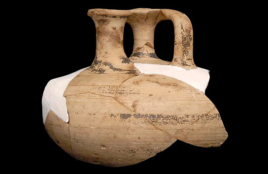 Mycenaean stirrup jar found at Amara West