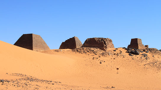 The pyramid cemetery at Meroe