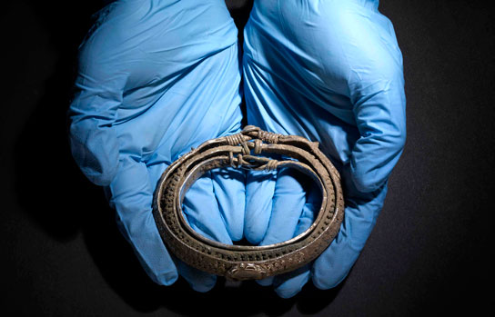 A piece of jewellery from the Silverdale Viking hoard