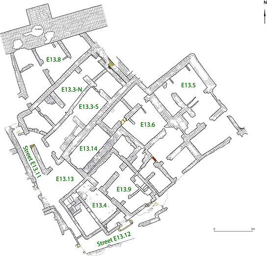 Key plan of housing block in E13.3