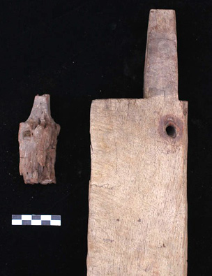 3,000 years of bed-making – ancient fragment from G314 (left), modern example (right).