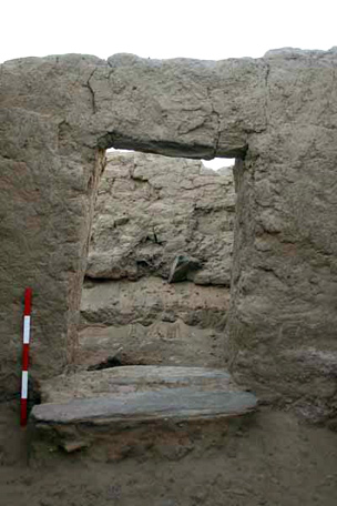 Doorway in house E13.9 (excavated 2009)