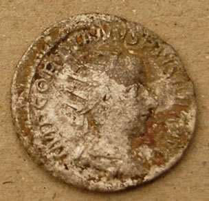 A silver radiate of Gordian III from the hoard