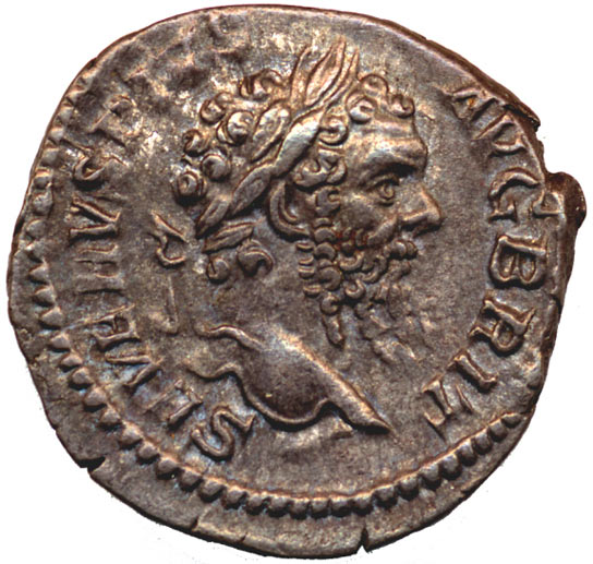 A silver denarius of Septimius Severus (AD 193-211) from the British Museum collection