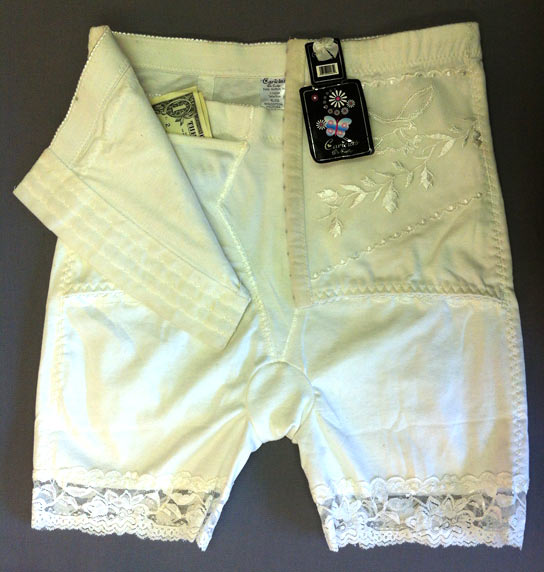 Underwear with a concealed pocket to store cash