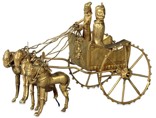Oxus chariot model, Achaemenid Persian, 5th-4th century BC