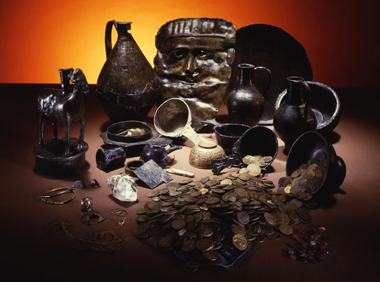 Objects found at a sacred spring in Bath. © Bath & North East Somerset Council