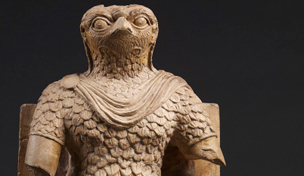 Limestone sculpture of Horus from Roman Egypt
