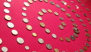 Coins from each of the 193 countries recognised by the United Nations arranged in a spiral