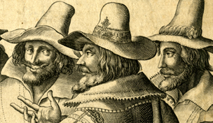 Print portrait of Guy Fawkes, about 1606