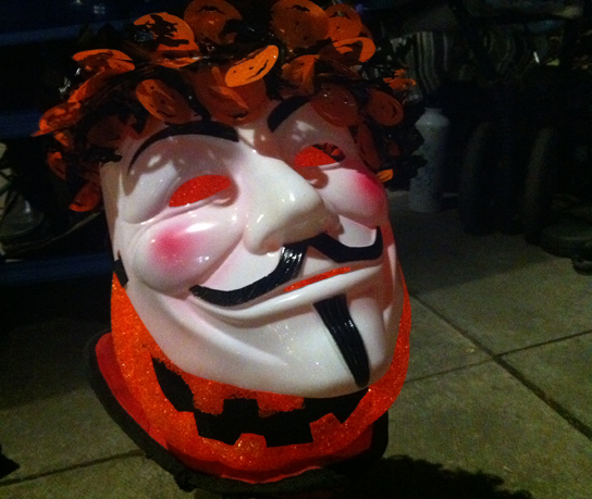 A contemporary Guy Fawkes mask