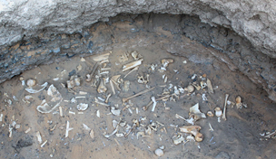 A burial at Amara West, Sudan