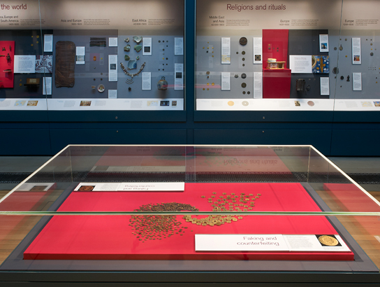 The Forgery case in the Money Gallery.