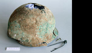 An extremely rare late Iron Age helmet from near Canterbury, Kent. Courtesy of the Portable Antiquities Scheme