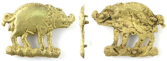 Boar mount associated with  Richard III. Courtesy of the Portable Antiquities Scheme.