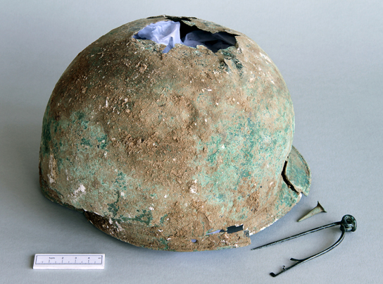 An extremely rare late Iron Age helmet from near Canterbury, Kent. Courtesy of the Portable Antiquities Scheme.