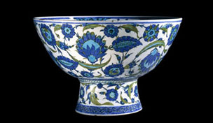 Iznik pottery basin