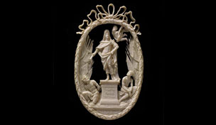 Ivory relief of Louis XIV