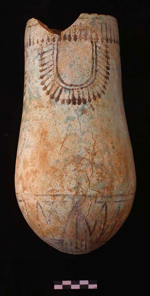 Faience situla found in Grave 244 (Sudan National Museum SNM 34615).