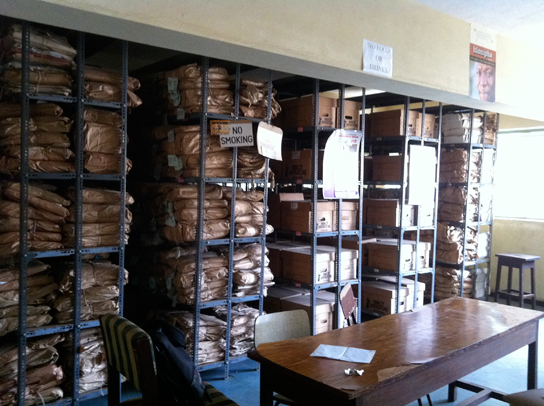 Inside the Sierra Leone National Archives at Fourah Bay College,