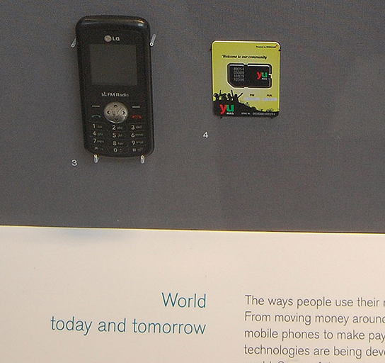 Mobile money in Africa display in the Citi Money Gallery