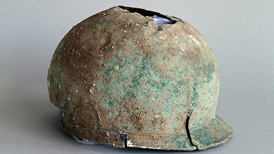 The helmet. © Canterbury Archaeological Trust Ltd