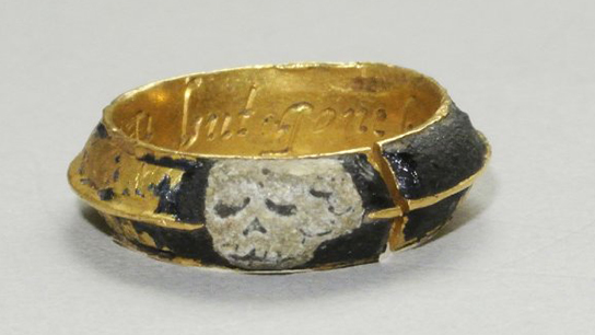 Mourning ring, about 1696-1731