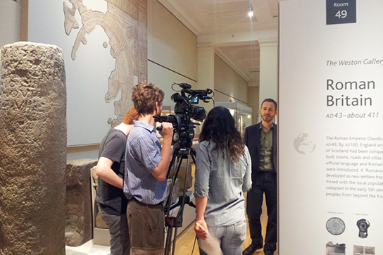 Filming at the British Museum