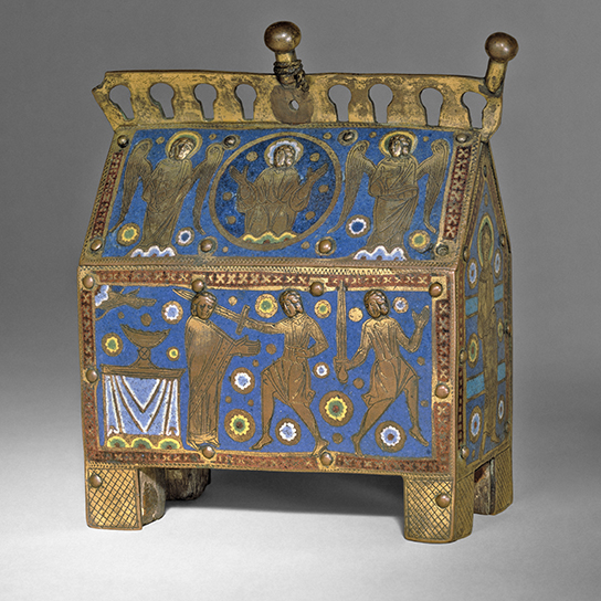 Reliquary casket produced in the Limoges workshops after the martyrdom of Thomas Becket, archbishop of Canterbury, in 1170
