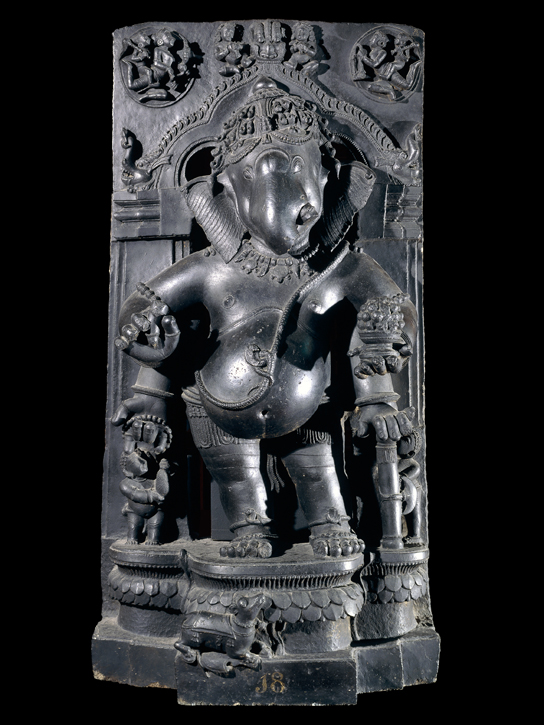 Carved schist figure of Ganesha (1872,0701.59)