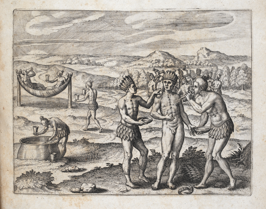 The Golden Man, engraving by Theodor de Bry, 1599. © British Library (exh. cat., p. 23)