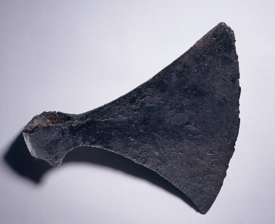Iron axe-head found in the Thames at Hammersmith, Viking, 10th-11th century (1909,0626.8)