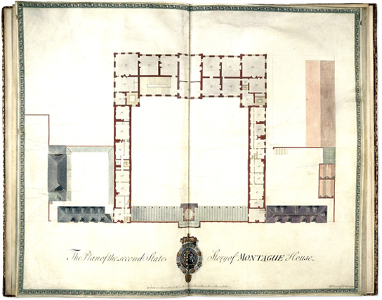 architectural plans of Montagu House by architect Henry Flitcroft