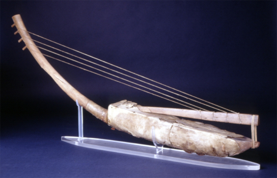 Arched harp from the New Kingdom, Egypt (EA 38170)