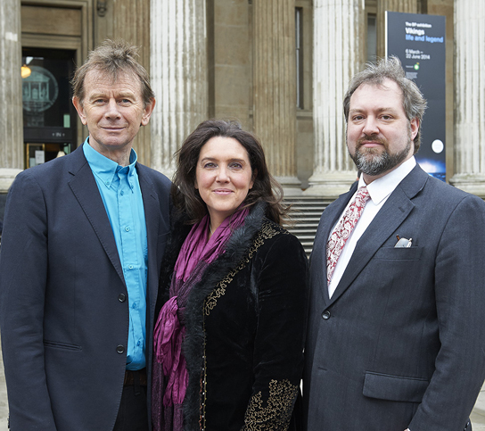 Vikings Live presenters, from left: Michael Wood, Bettany Hughes and Gareth Williams