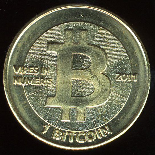 Bitcoin token, designed by Mike Caldwell (CM 2012,4040.4)