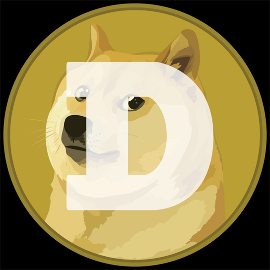 Dogecoin logo, designed by Christine Ricks