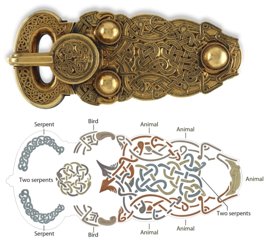 Decoding the great gold buckle from Sutton Hoo, Suffolk