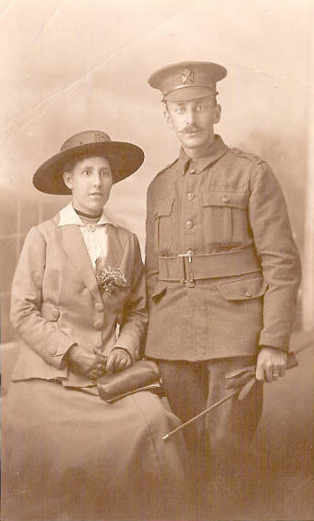 Fred and Nellie Sharp, 5 August 1916. Photo with kind permission of Joy