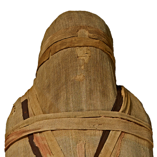 Mummy of an unknown man from Thebes, around 600 BC. EA 22814