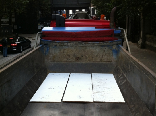 The boards placed in the lorry.